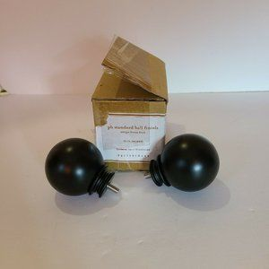 "Pottery Barn Cast Iron .75"" Ball Finial Set of 2 A"